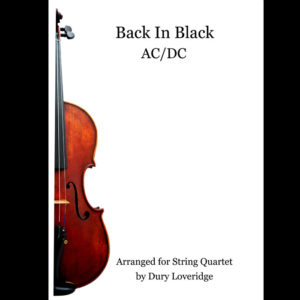 Back in Black Sheet Music String Quartet